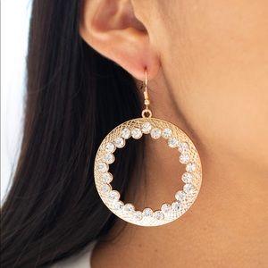 Paparazzi Gala Glitter Gold Earrings